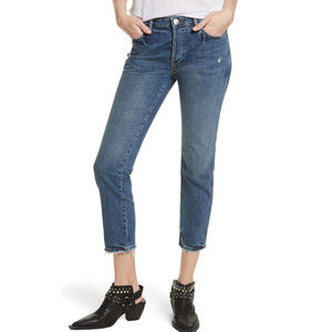 FREE PEOPLE Blue Slim Crop Boyfriend Jeans 31